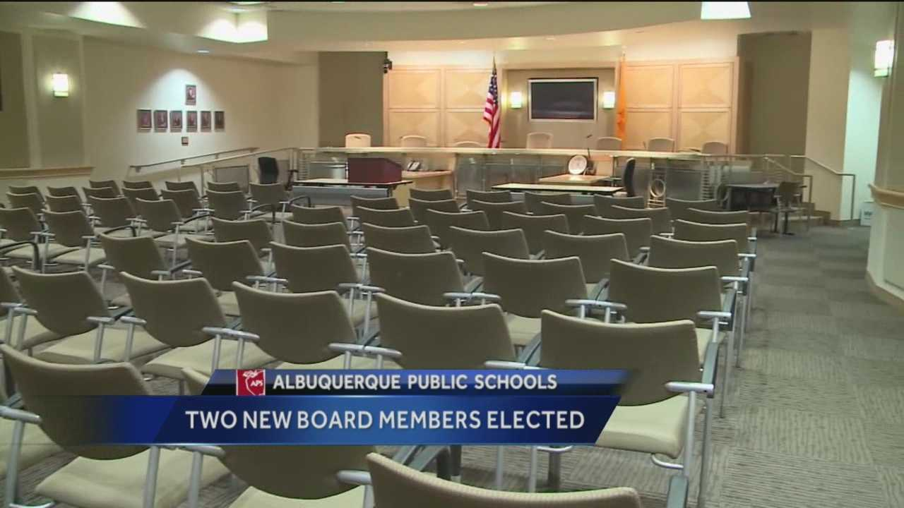Two new faces are coming to the Albuquerque Public School Board after Tuesday's election.