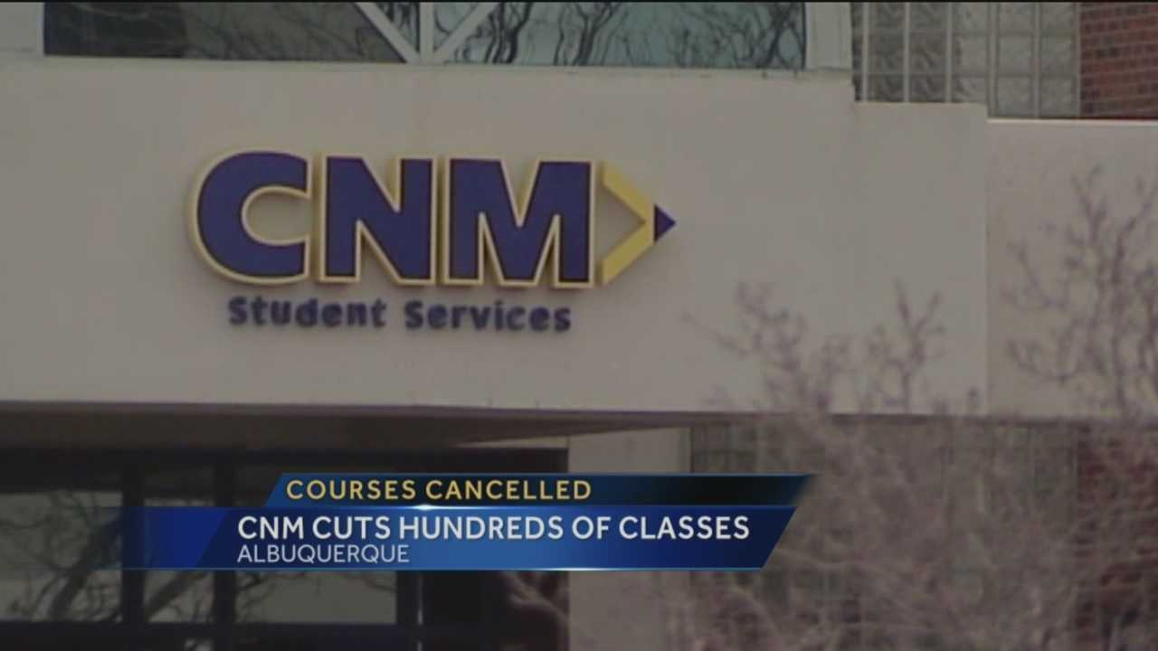Nearly 500 classes have been cancelled at Central New Mexico Community College due to a lack of students signing up, school officials said.