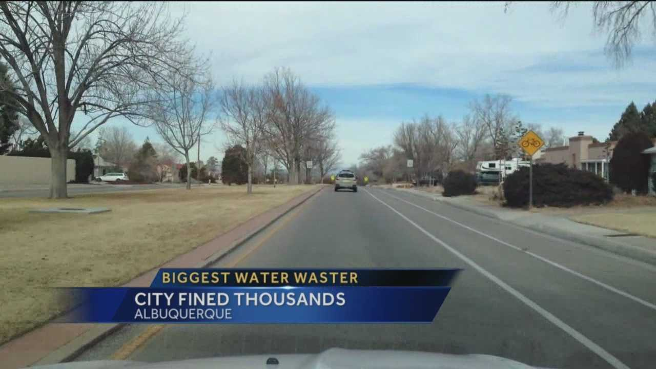 The Albuquerque Water Authority has released its latest water-wasters list, and the city's Solid Waste Department was atop it.
