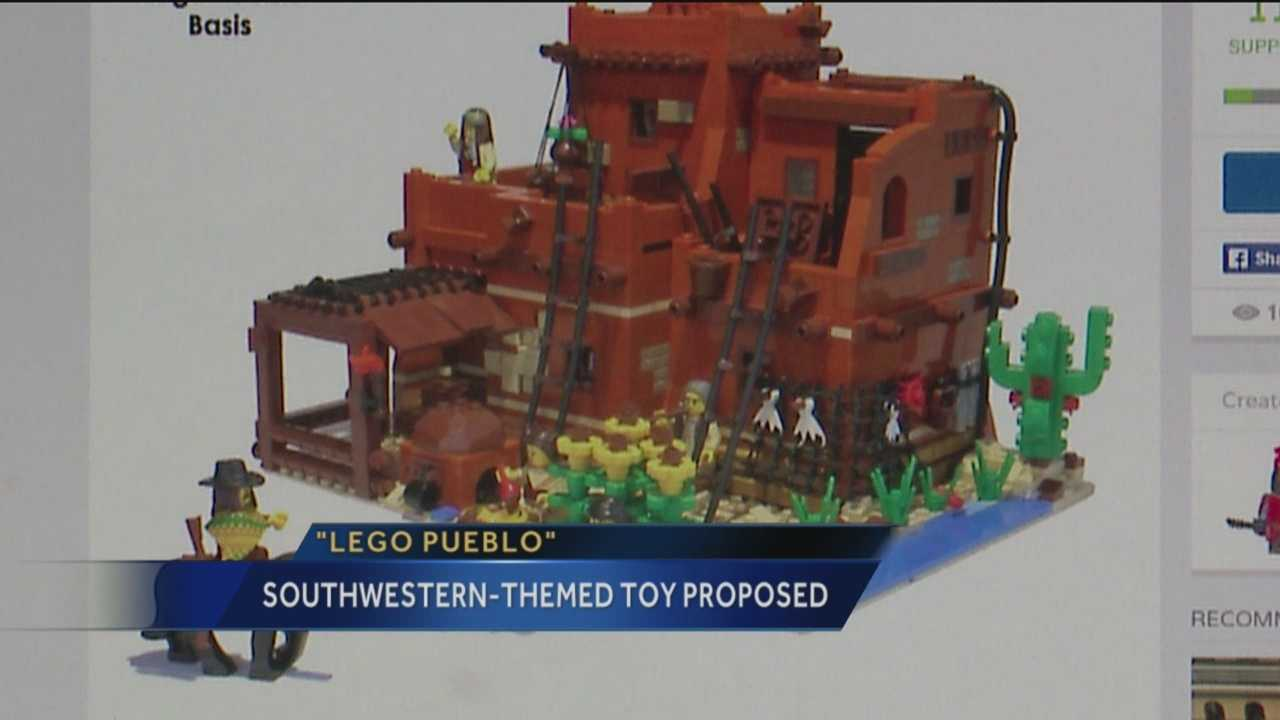 The lego pueblos is making news in New Mexico.