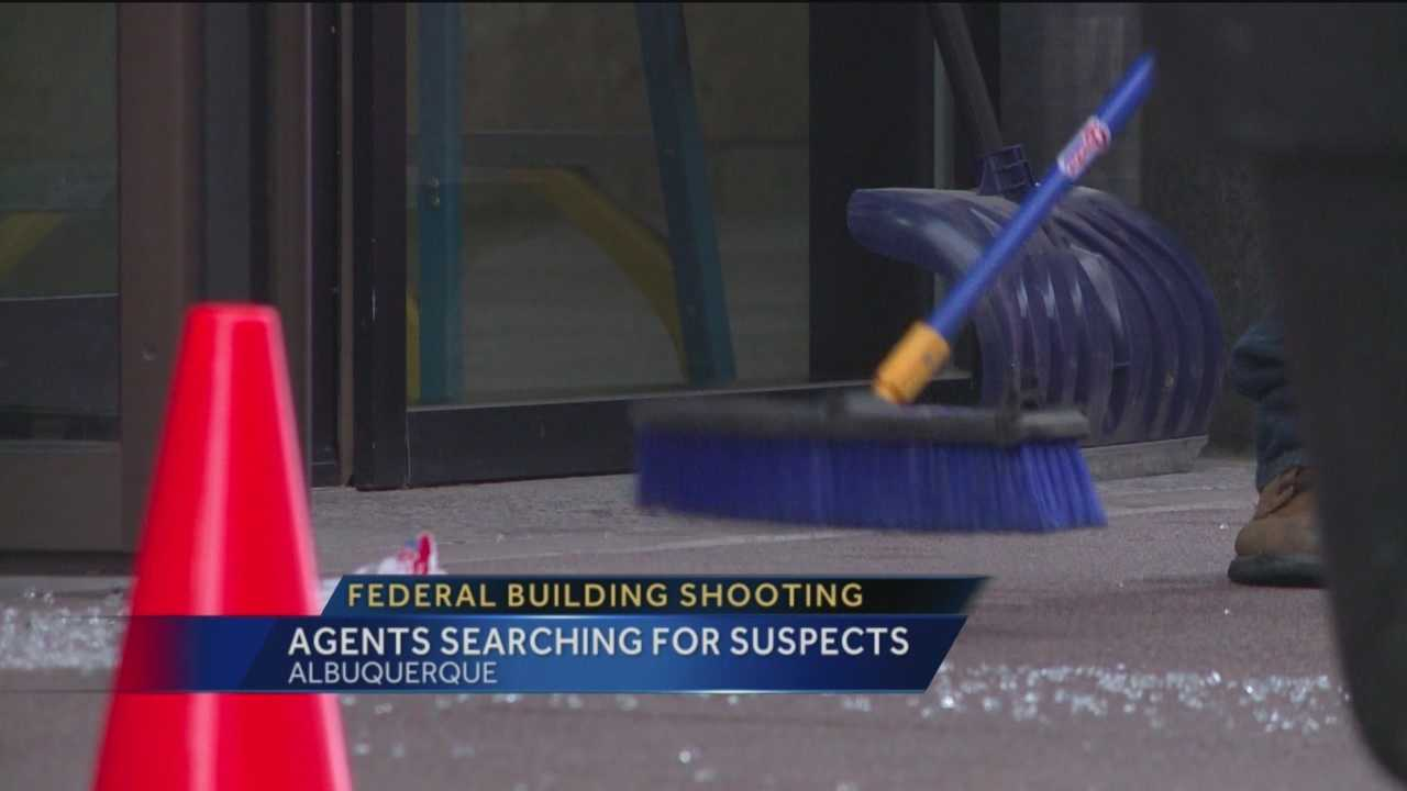 Federal agents are investigating gunshots outside a federal building in downtown Albuquerque.