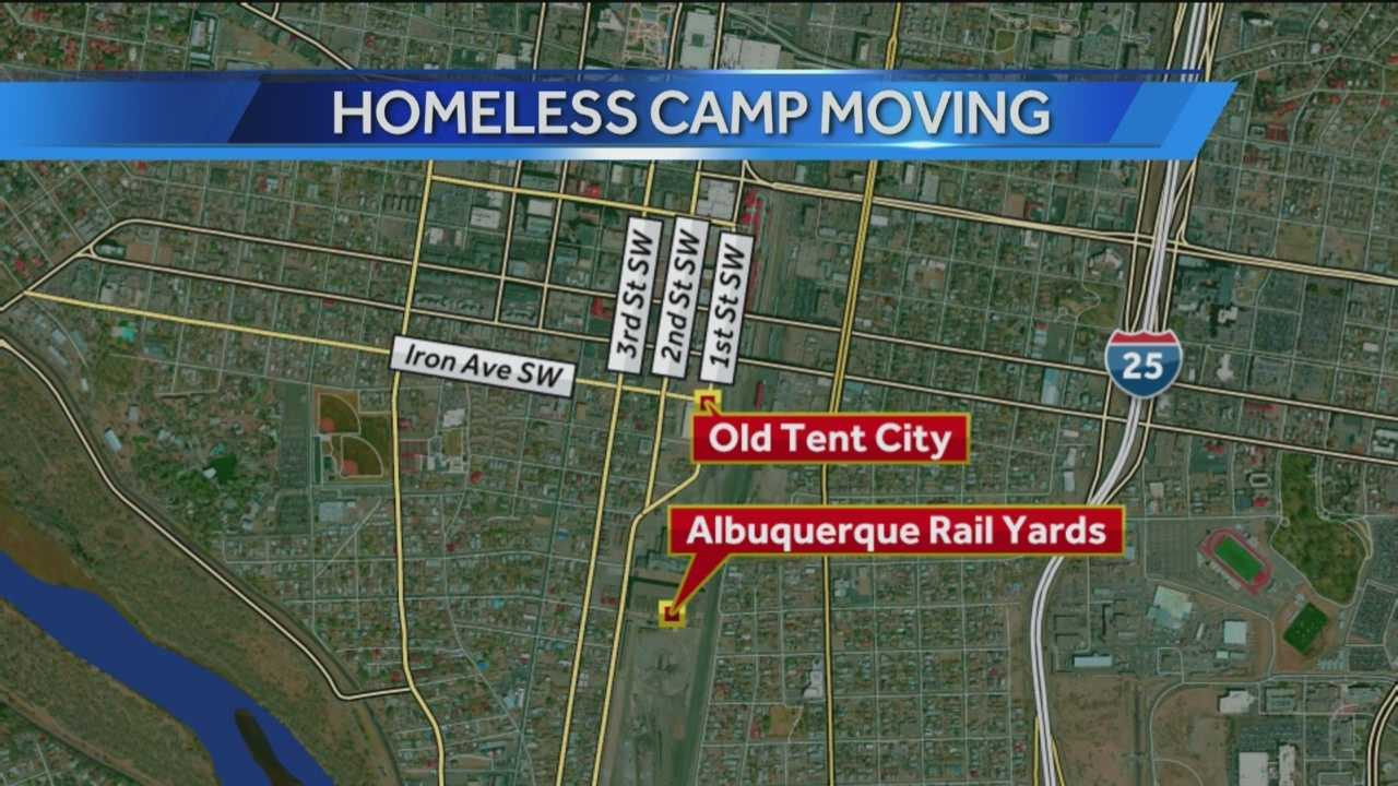 Former Tent City residents are being encouraged to relocate to a nearby property controlled by the nonprofit Barelas Community Coalition.