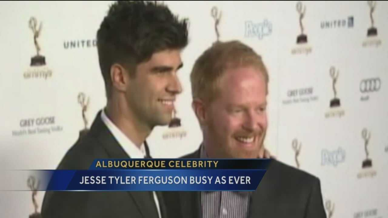 A famous Albuquerque native has been very busy. From starring on a hit ABC show, to making the talk show rounds, to publicly researching his family's history, Jesse Tyler Ferguson has no intention of slowing down.