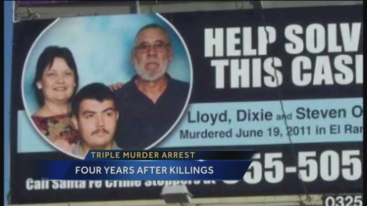 Police have made an arrest almost four years after a brutal Santa Fe County triple murder.