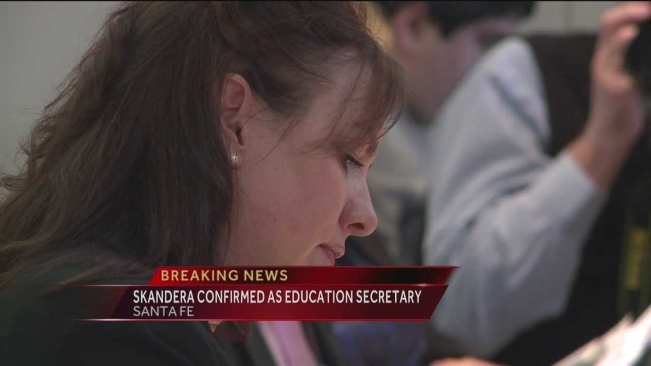 For the first time in her four-year tenure, Hanna Skandera has been confirmed as the education secretary.