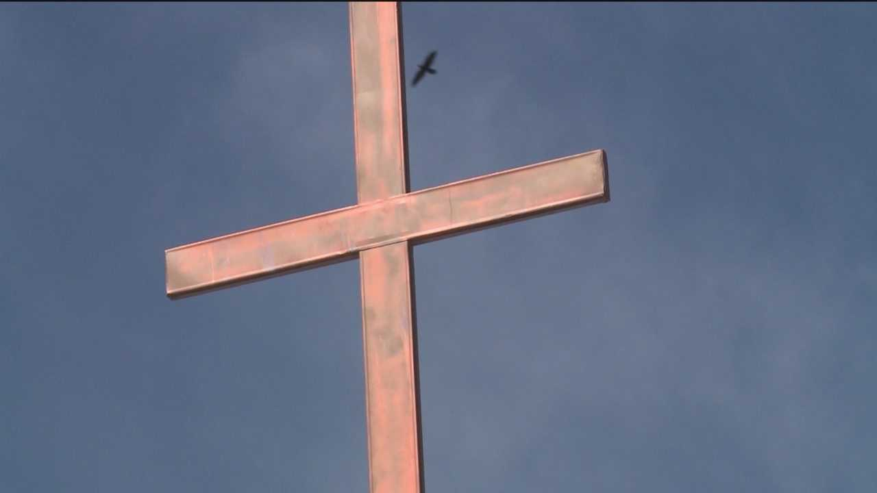 A nearly 200-year-old church that practically fell down in the Socorro County town of Lemitar has been rebuilt, and was rededicated Monday.