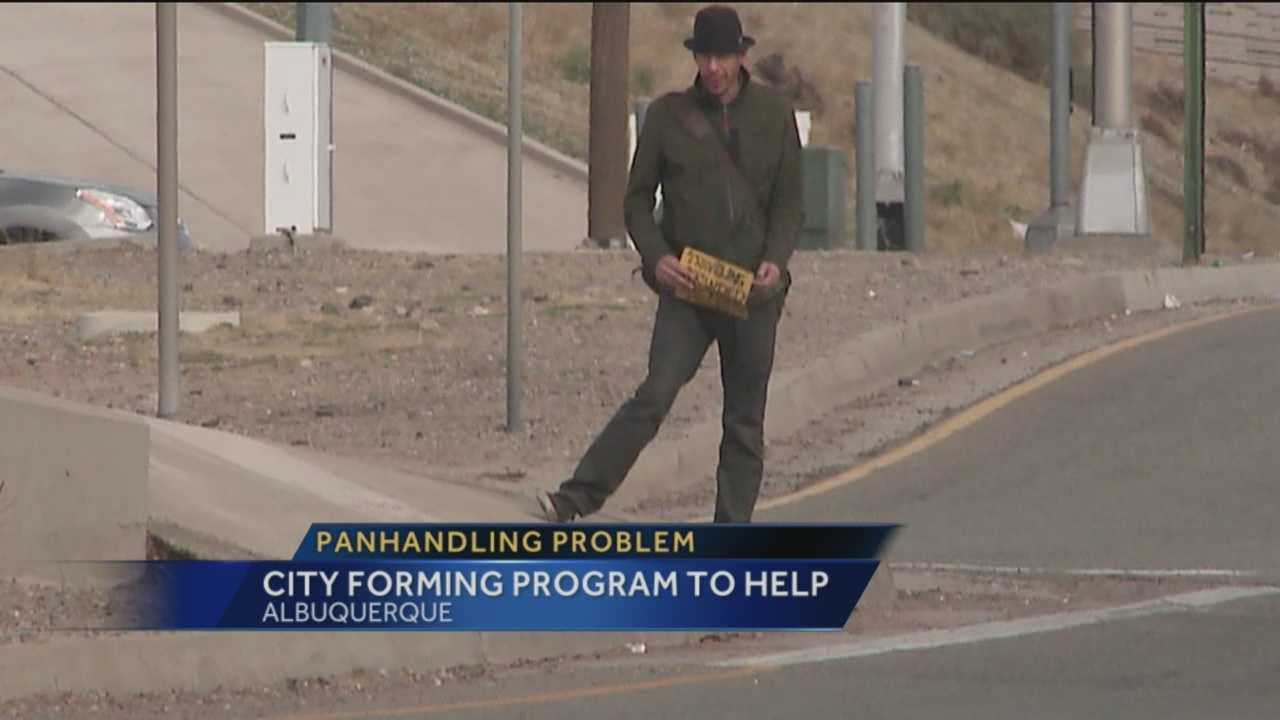 Panhandling is illegal, but you still see people begging for food and money on the side of the road and intersections. Now Albuquerque police are working on a way to stop them.