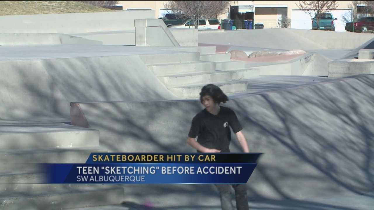 One local teenager suffered severe injuries after a pulling a very dangerous stunt on his skateboard.