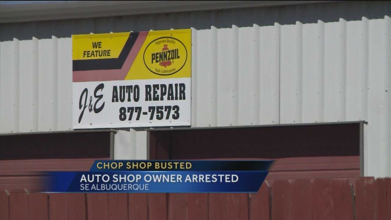 Bernalillo County deputies raided a southeast Albuquerque business recently and arrested the owner. He's accused of running a chop shop.