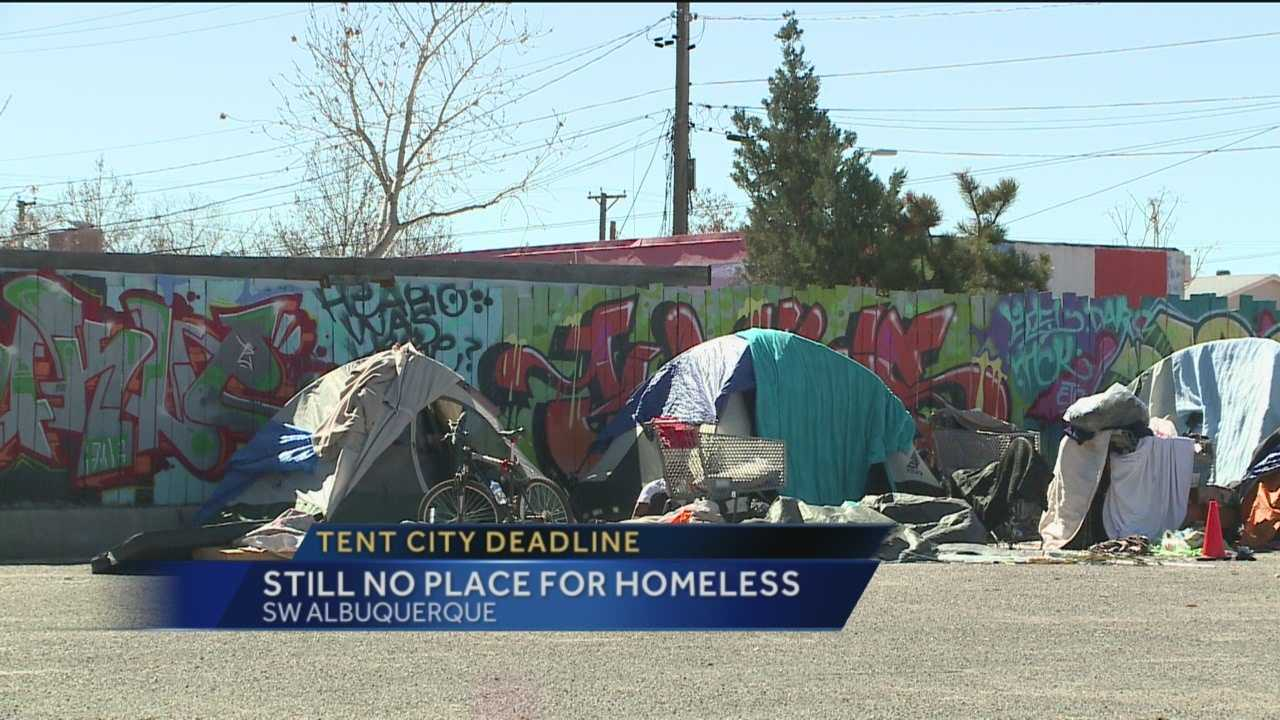 Wednesday is the deadline for the homeless to evacuate Albuquerque's second Tent City location.