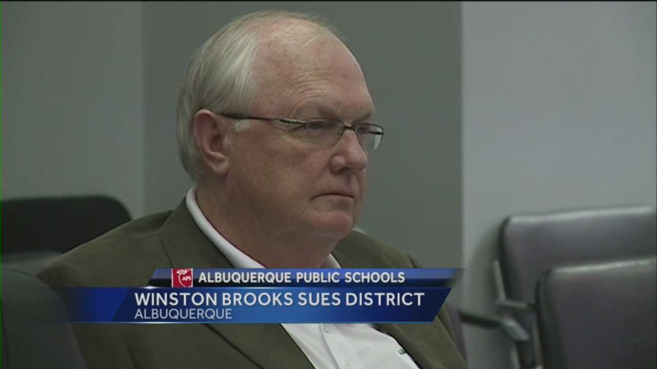 Former Albuquerque Public Schools superintendent Winston Brooks is suing the district, saying his interim replacement violated aspects of his resignation settlement.