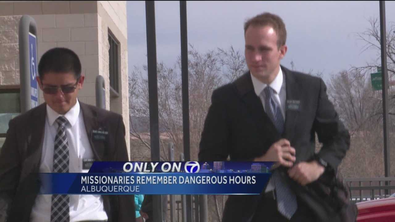 Two Albuquerque Mormon missionaries were held captive by someone they were trying to witness to last week.