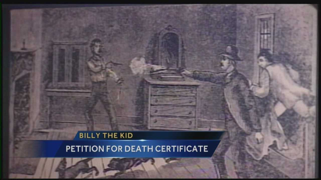 A New Mexico court is being asked to order state officials to issue a death certificate for Billy the Kid to settle questions about whether the 19th Century outlaw was in fact killed in 1881.