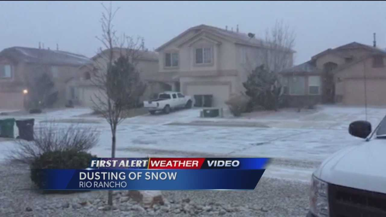 Winter has returned to New Mexico.