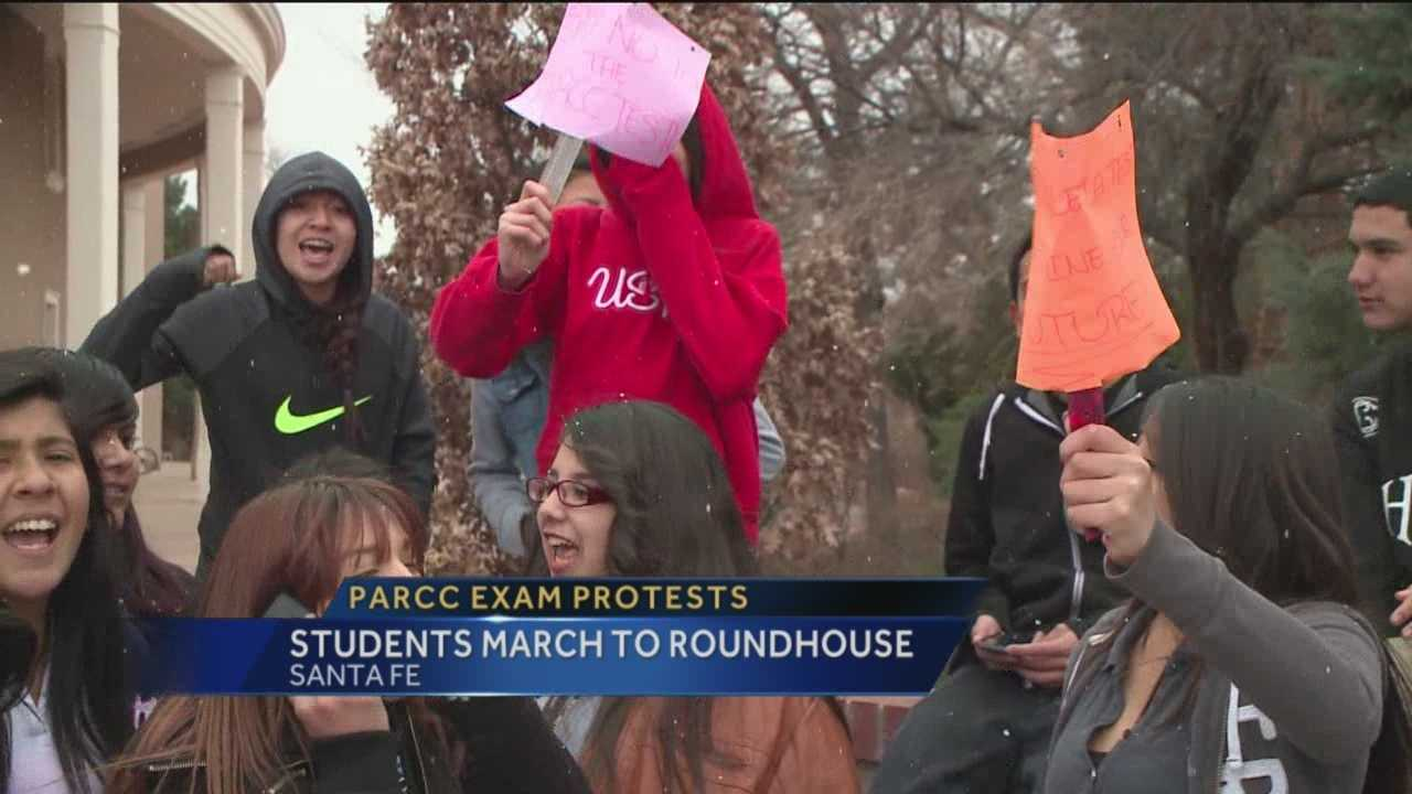 High school students continue to protest upcoming PARCC standardized testing.