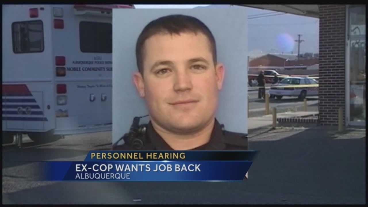 On Wednesday, an APD officer tried to make a case for getting his job back.