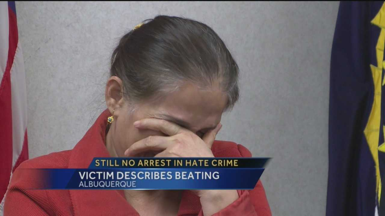 It's been almost nine months and still no arrests have been made in an Albuquerque hate crime. The victim sat down with KOAT Action 7 News anchor Royale Da recently and described the beating she got from a masked man.
