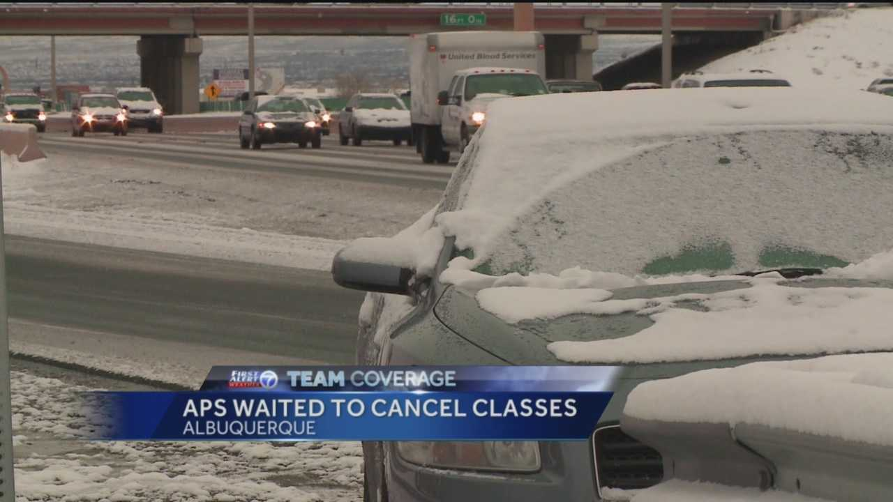 Area school districts look at road conditions before making decisions to delay or even cancel classes.