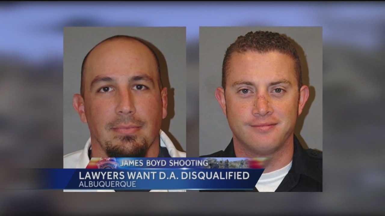 The murder trial for two Albuquerque officers hasn't even started, but there's already a fight over who will prosecute them. Attorneys want the Bernalillo county district attorney's attorneys's office thrown off the case.