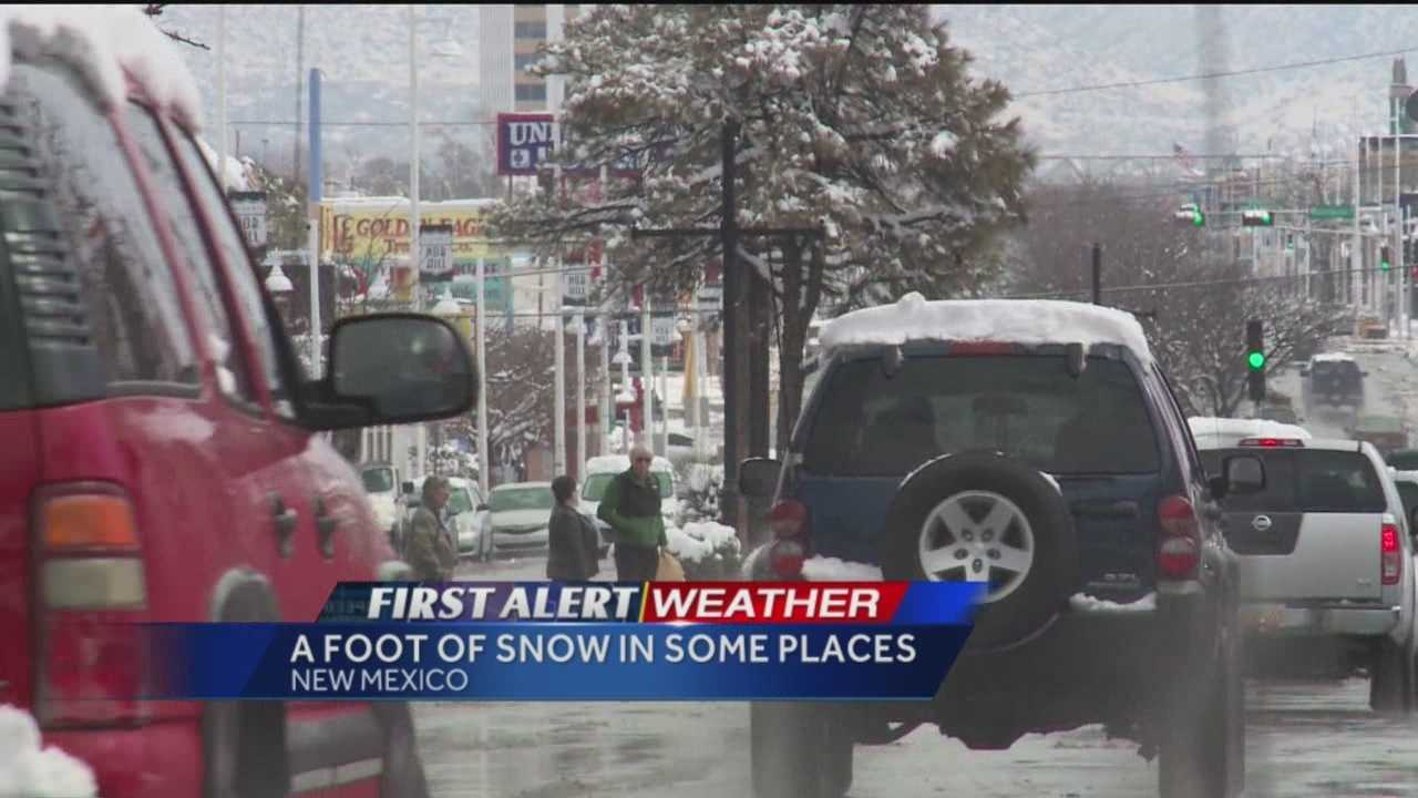 Albuquerque sees snow every winter, but not like this latest storm. Drivers crashing on city streets and highways, forcing to make choices about who to help.