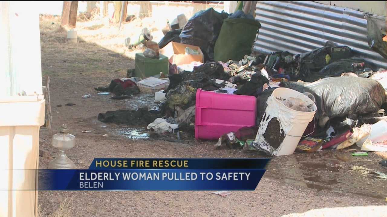 The Belen Fire Chief was in the right place at the right time Thursday.