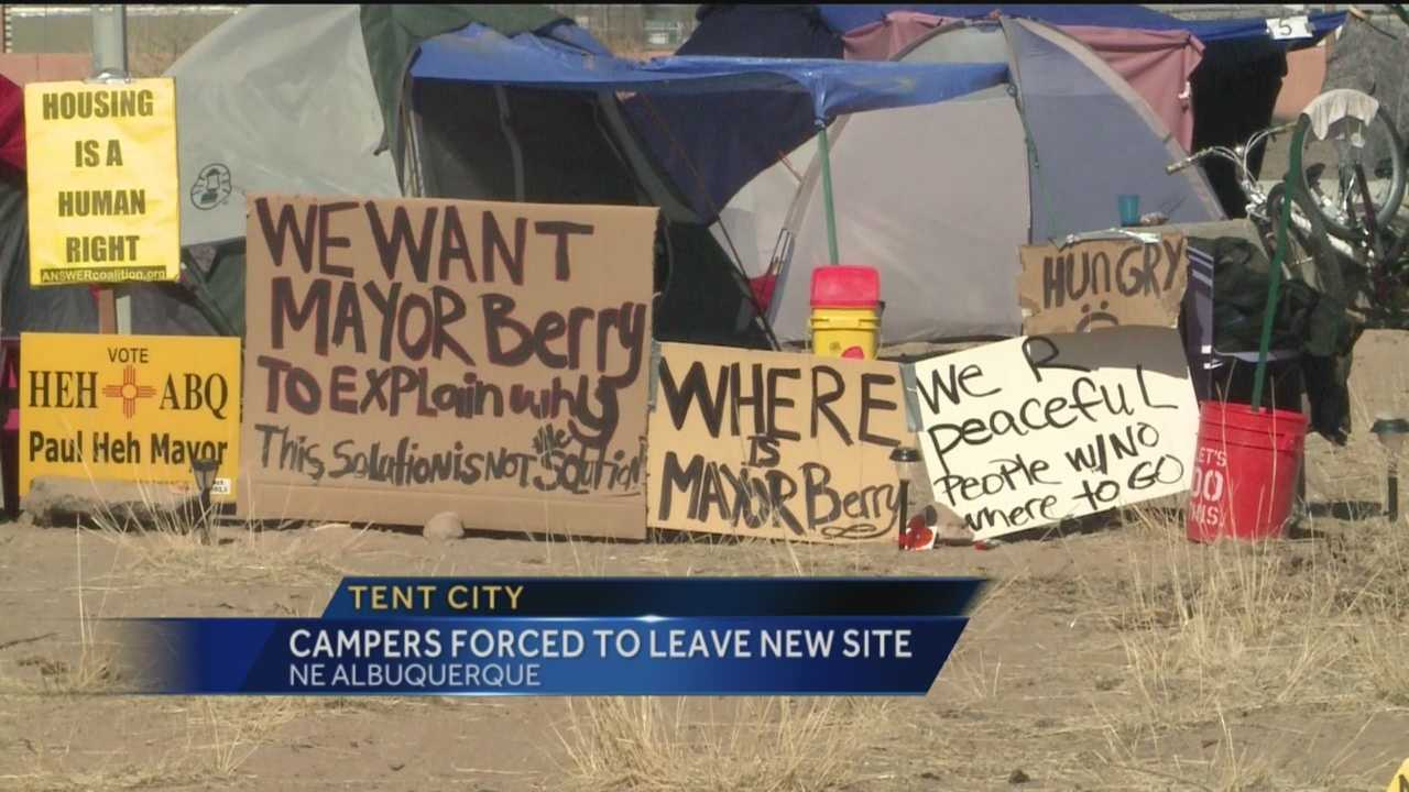 The state wants to dismantle the newest homeless camp in Albuquerque.