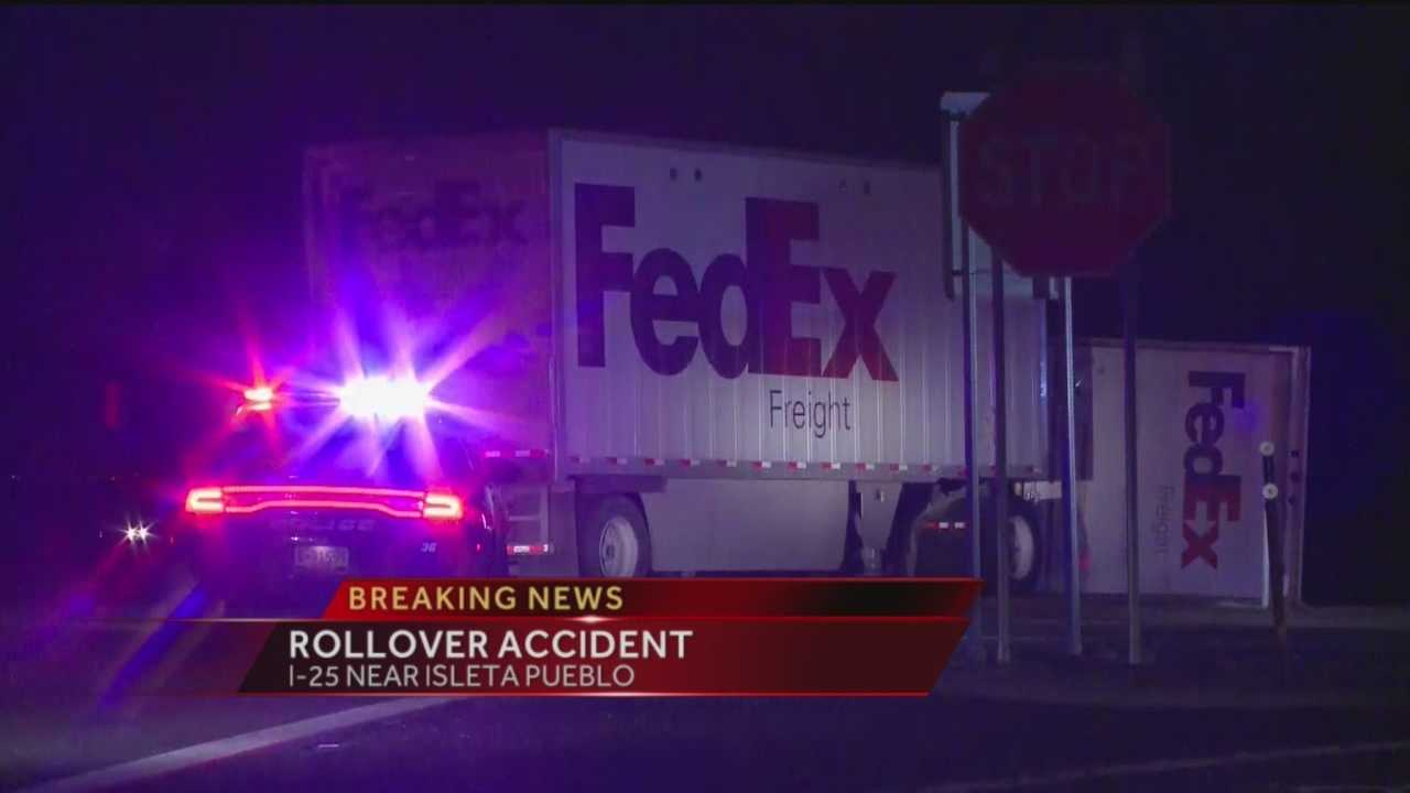 Overnight Rollover Accident