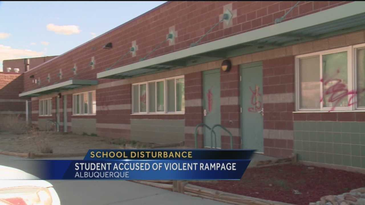 Albuquerque Police say Chelwood Elementary School was put on a shelter in place mode because of one students violent rampage.