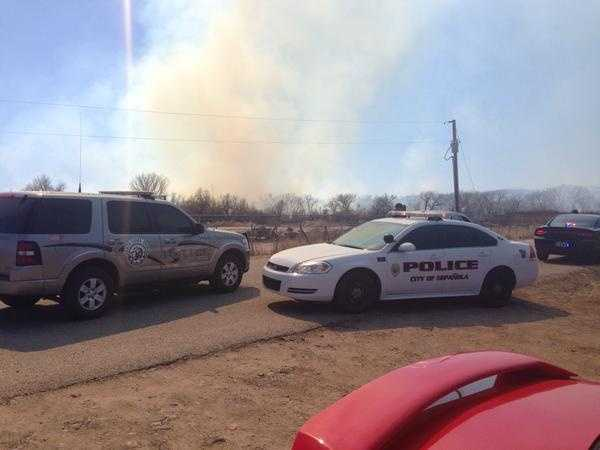 See photos of the wildfire burning in Espanola.