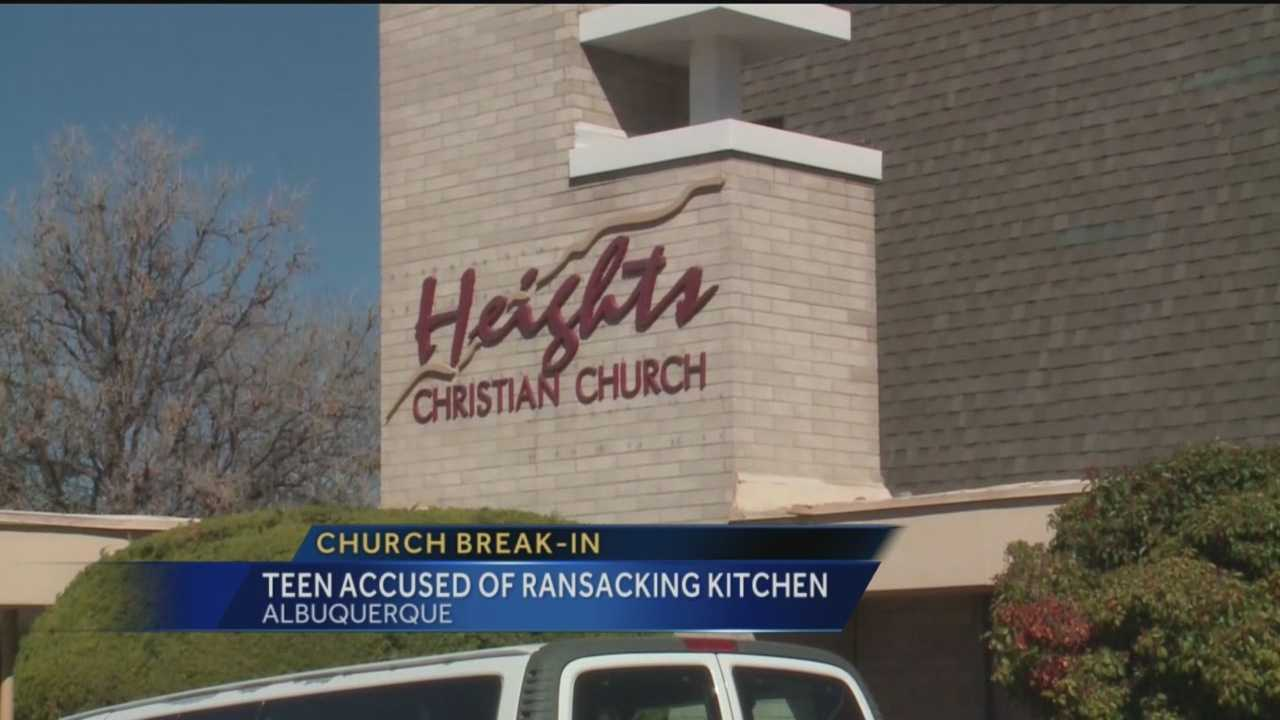 A northeast Albuquerque church was broken into early Monday morning, but the offender didn't go for any valuables.