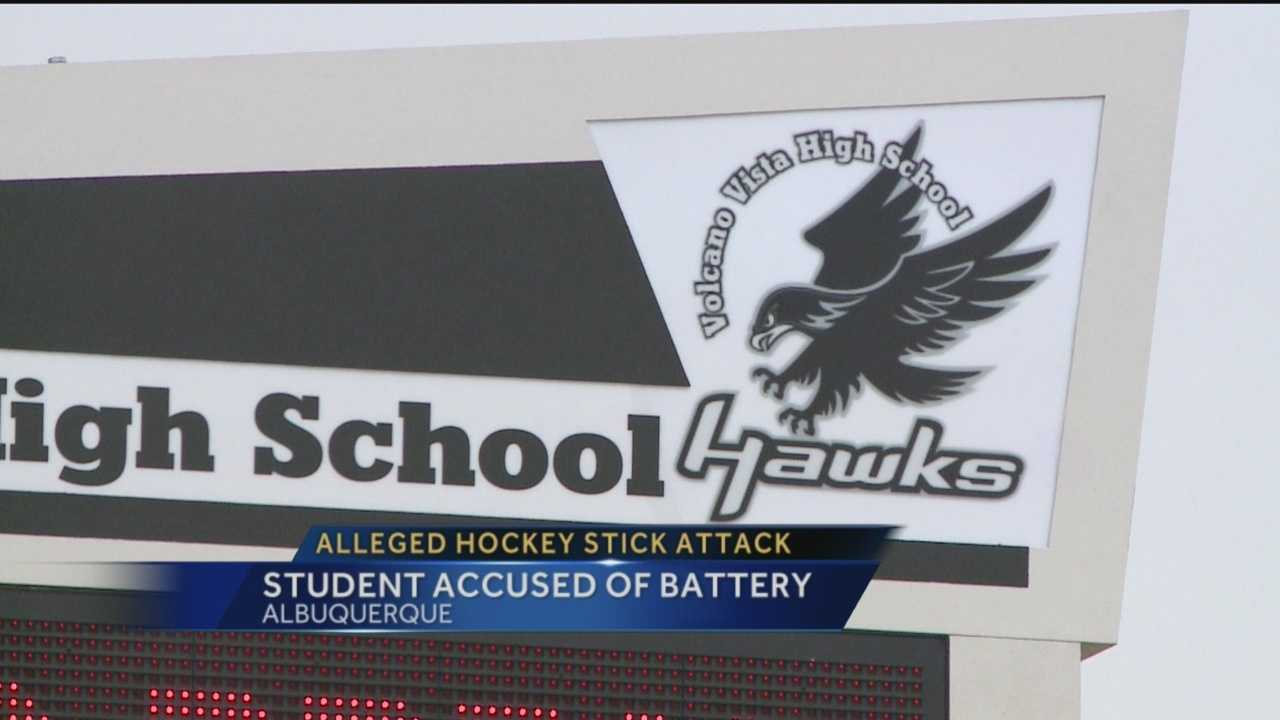 An Albuquerque father says his daughter was attacked with a hockey stick during school by a fellow student.