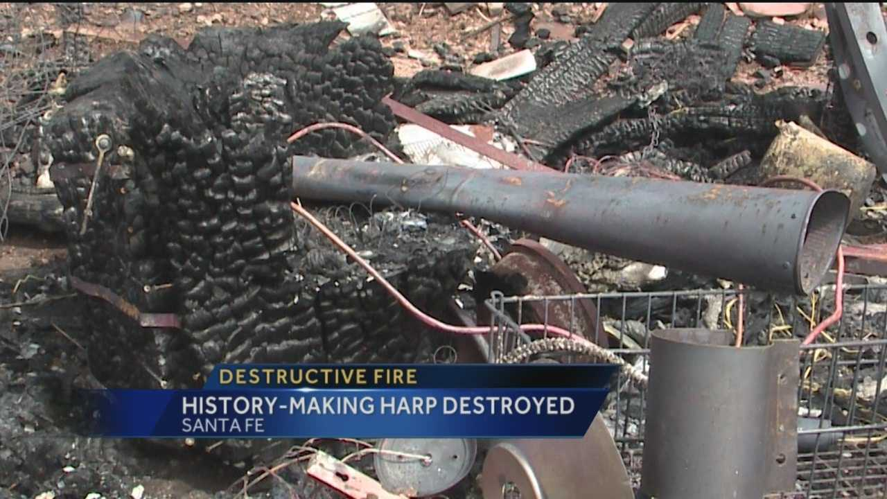 A one-of-a-kind instrument once featured in the Guinness Book of World Records was destroyed in a house fire this week.