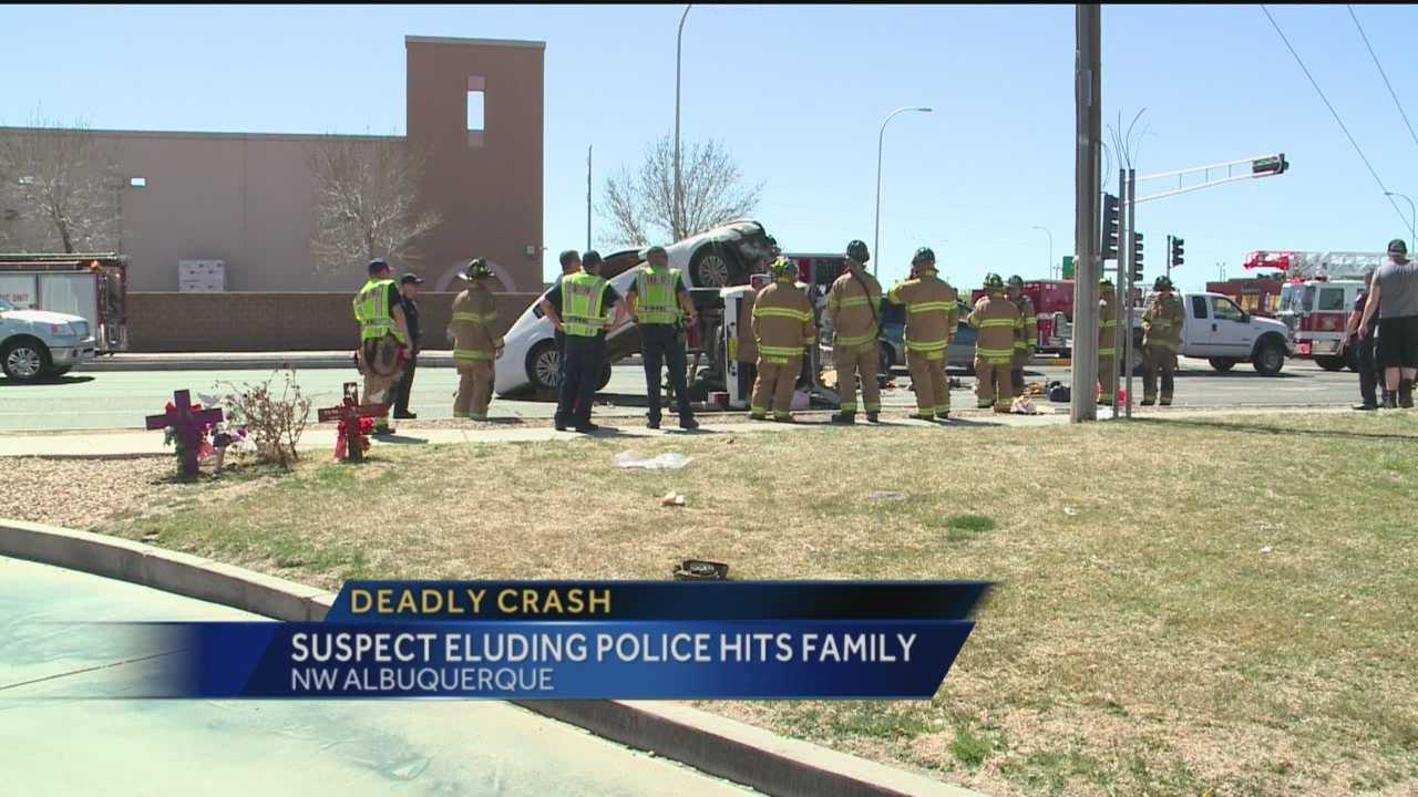 Albuquerque Police a man was drunk when he tried to escape from cops and hit a families SUV.