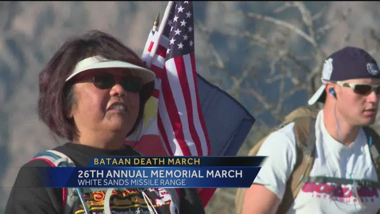 Thousands came together at White Sands Missile Range today to remember the Bataan Death March.