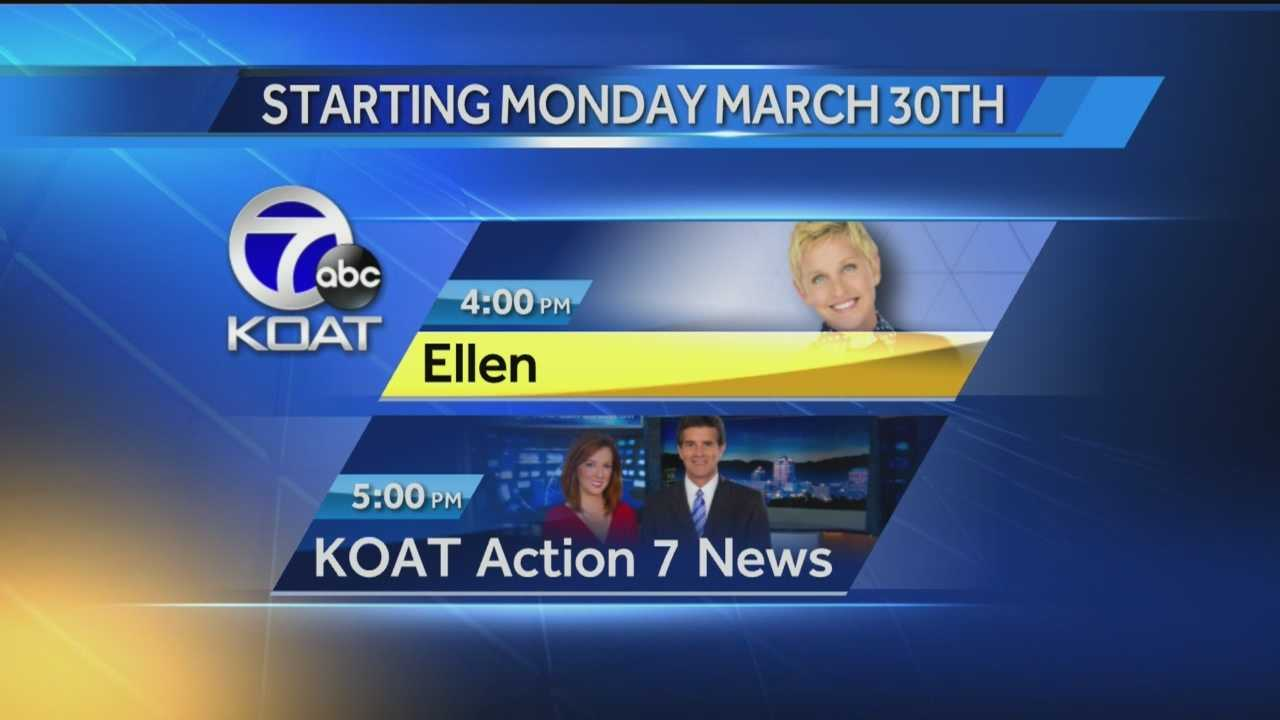 Your afternoons on KOAT are about to change.