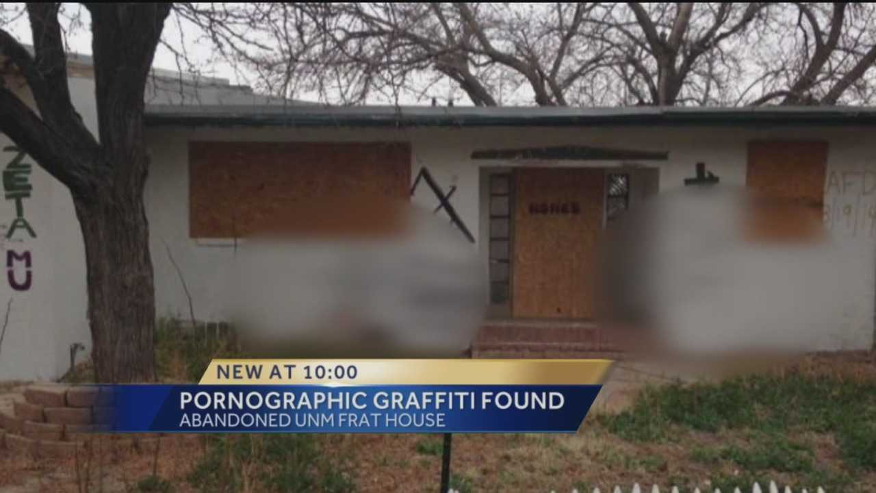 Students and neighbors were horrified to see grotesque graffiti on an abandoned building, at UNM.
