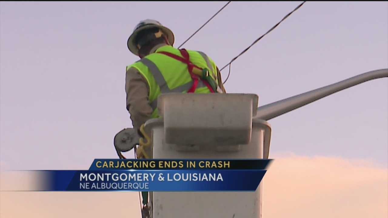 Lanes of Montgomery and Louisiana boulevards were shut down after live power lines were knocked down Tuesday evening.