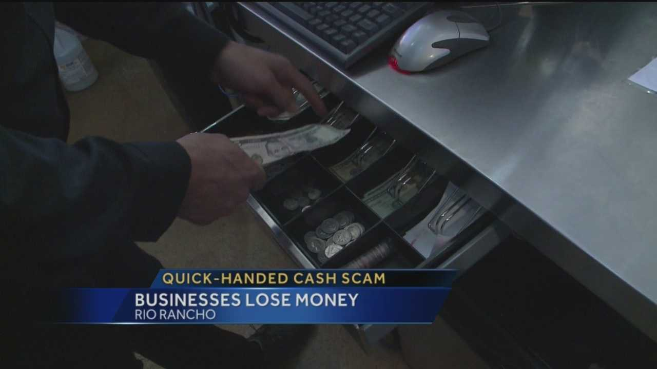 Small businesses in Rio Rancho want to warn people about a quick-handed cash scam.
