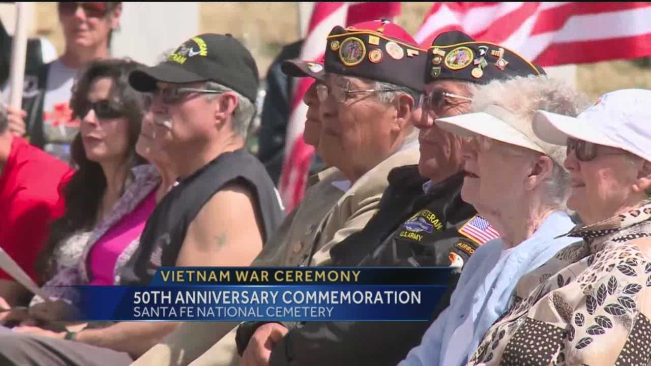 The Santa Fe National cemetery paid tribute today to those who served during the Vietnam war. A ceremony marking the 50th anniversary brought out people from across the state.