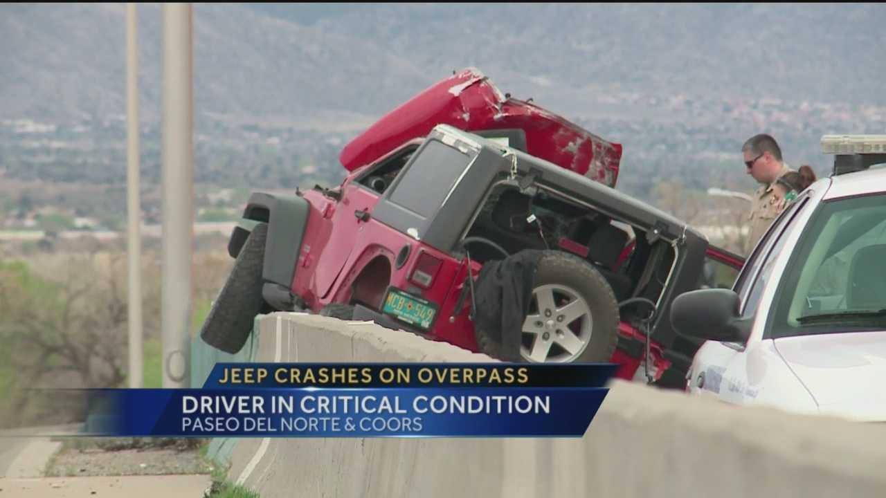 A crash early evening shutdown Paseo Del Norte at Coors.