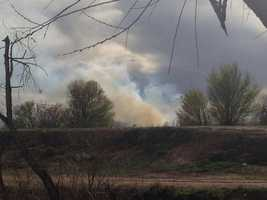 Smoke was spotted in the Bosque for a second time Tuesday around 5 p.m.