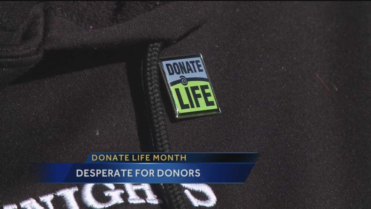 It's April which means it's donate life month.