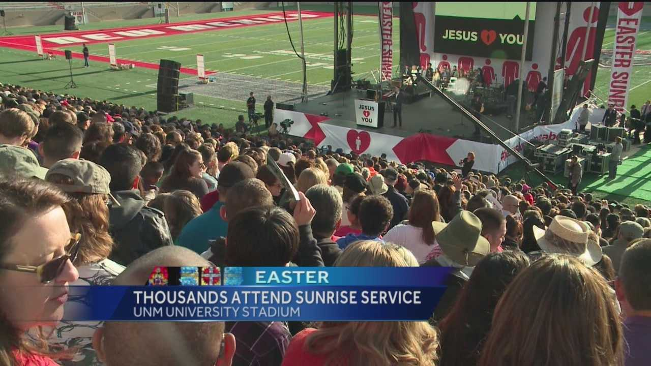 Thousands woke up before the sun this morning to attend the largest Easter Mass in our state.