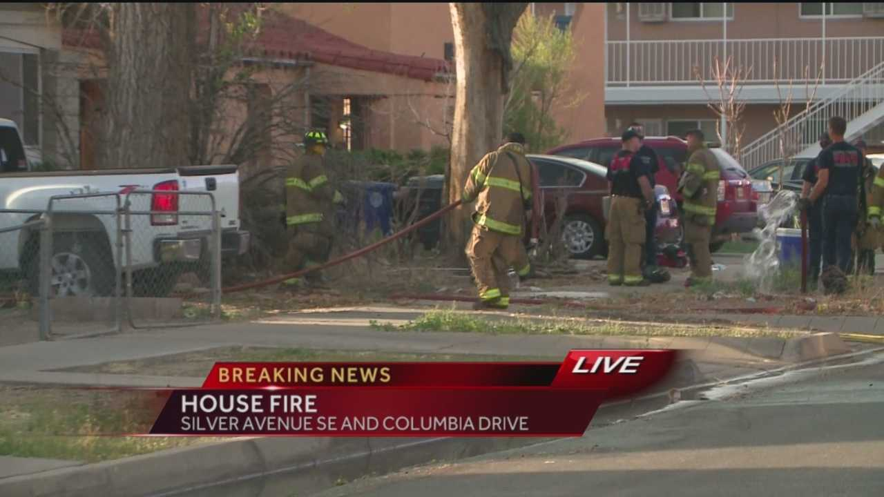 Crews are at the scene of a house fire near Silver Avenue and Columbia Drive in southeast Albuquerque.