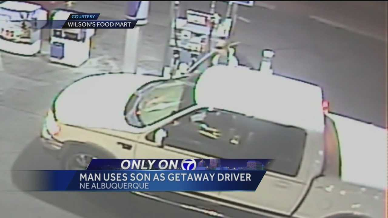 Surveillance video captures the moments when a man opens fire at a northeast Albuquerque gas station.
