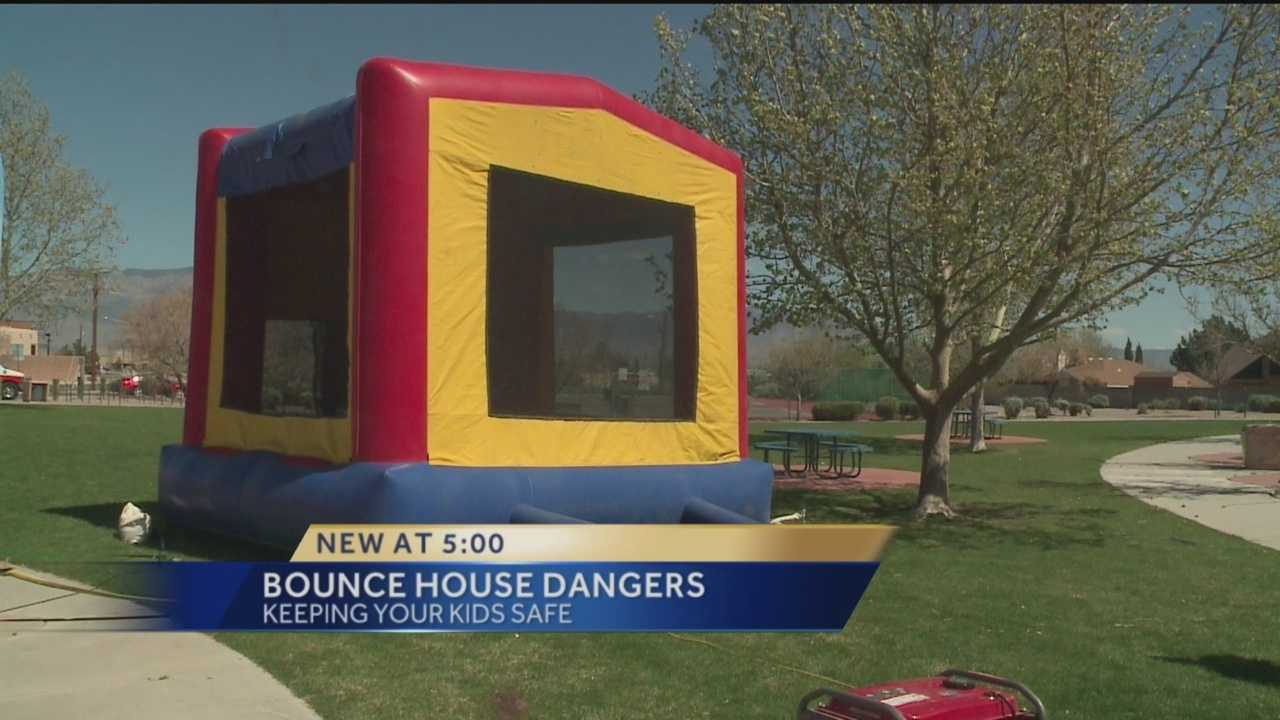 Bounce houses are popular at birthday parties and other events, but on windy days those houses can be extremely dangerous when not tied down properly.
