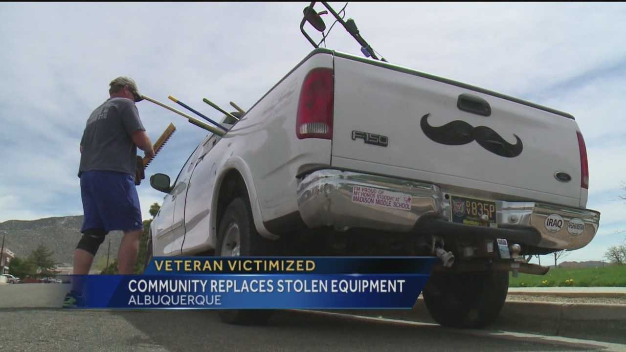 An Albuquerque veteran said thieves robbed him of his job and hurt a lot of other veterans in the process.