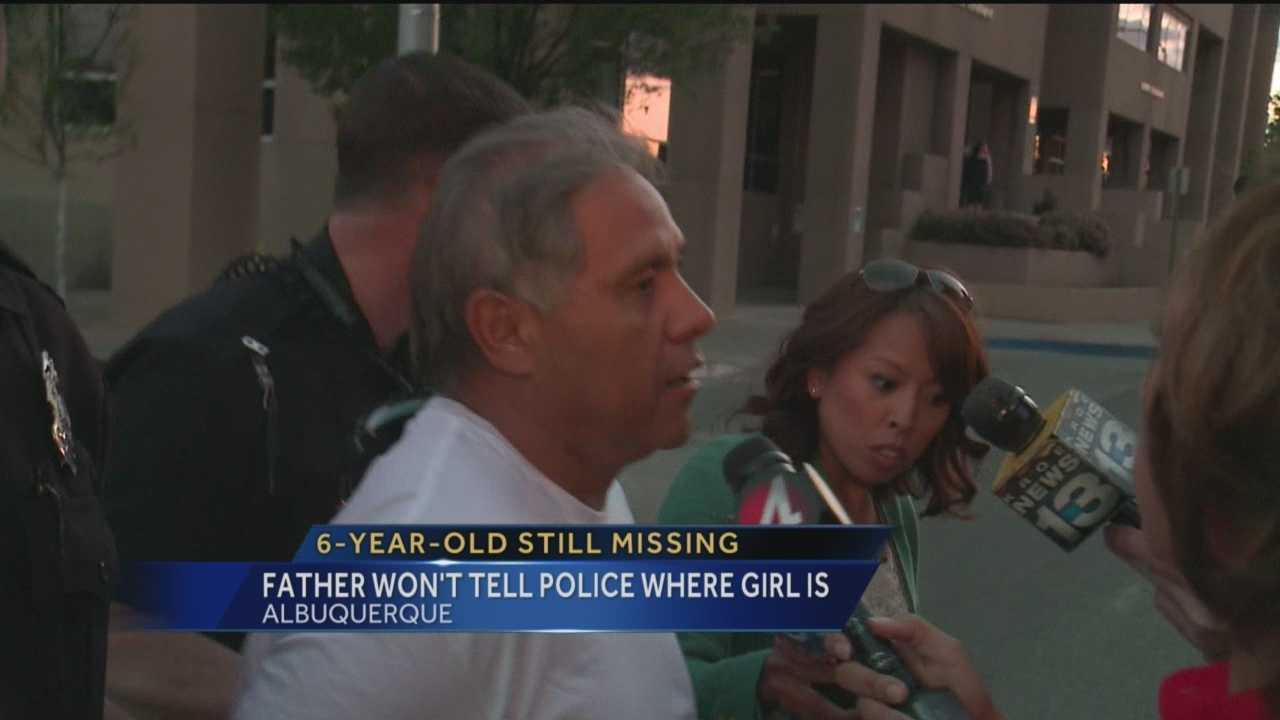 The girls father will not reveal where the little girl is.