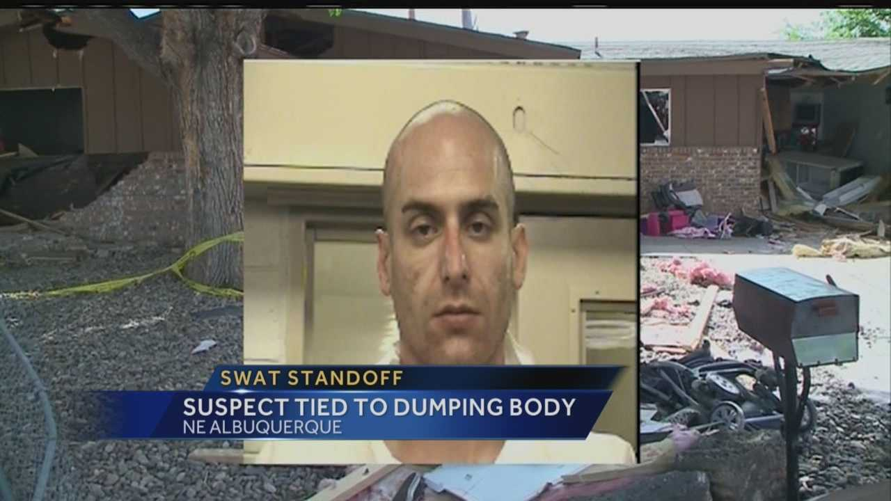 A man arrested after a 16-hour standoff is the same man accused of dumping a woman's body behind his skating rink. Reporter Sandra Ramirez has the story.