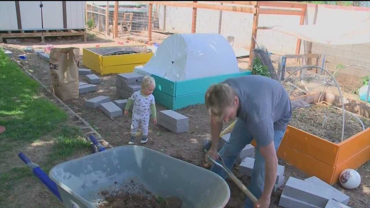 There was flooding in an Albuquerque backyard last week, and the homeowners are scrambling to avoid a repeat.